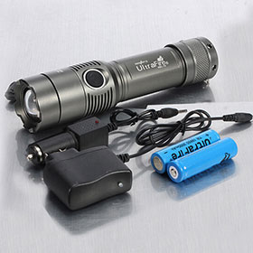 Ultrafire CREE T6 2000lm Zoomable Flashlight Suit