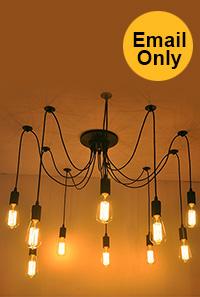 10 Lights Edison Spider Chandelier