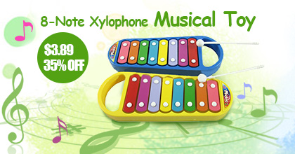 8-Note Xylophone Musical Toy