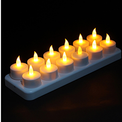 12 Rechargeable LED Flameless Light Candle